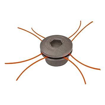 Groway 51313011 - Cabezal para desbrozadora en aluminio, 8 hilos ...