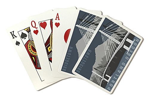 Portland, Oregon - Bridgetown (Playing Card Deck - 52 Card Poker Size with Jokers)