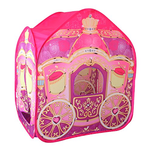 POCO DIVO Princess Carriage Cinderella Wagon Pop-up Play Tent Girls Pretend Playhouse ()