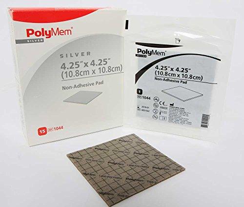 - PolyMem Non-Adhesive Wound Dressing, Foam, 4.25' X 4.25' Pad, 1044 (Box of 15)