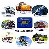 Magicalmai Inductive Hour Meter for Gas Engine Lawn Mower Dirt Bike Motorcycle Motocross Snowmobile Karting Marine ATV Boat Outboard Motor Generator WaterproofHour Meters - Blue