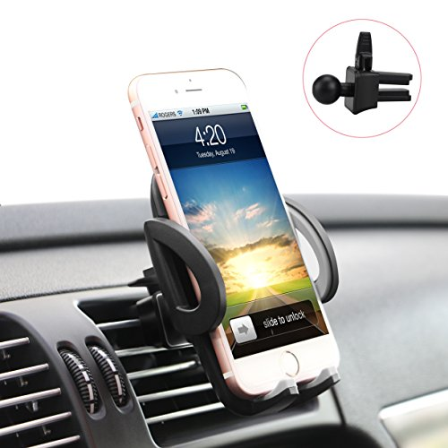 Ilikable Air Vent Car Mount Holder With 360 Rotation And Release Button For Cell Phone Iphone Smartphone Android Gps Devices   Black
