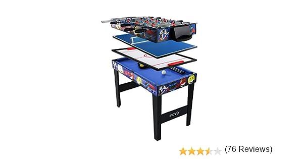 IFOYO - Mesa de juego 4 en 1, mesa de hockey, futbolín, billar y ...