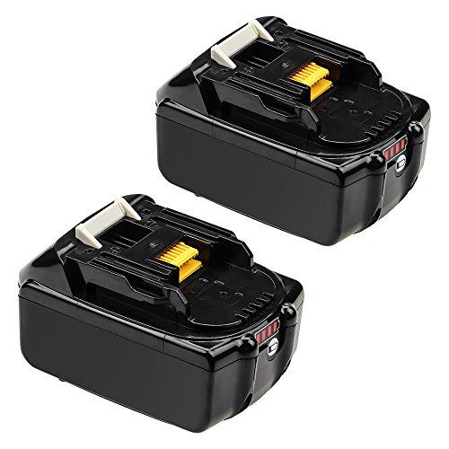 Dosctt BL1830B Replace for Makita 18V Lithium LXT Battery BL1860B BL1850B BL1840B 194204-5 LXT400 Cordless Tools with LED Power Display 2 Pack