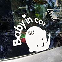 Elevin(TM) Baby In Car Waving Baby on Board Safety Sign Car Truck SUV Window ...