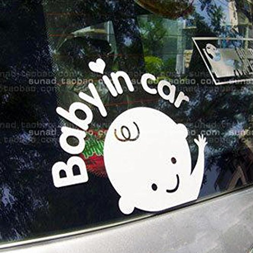 Elevin Baby In Car Waving Baby on Board Safety Sign Car Truc