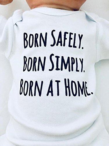 Newborn Home Birth Shirt, Born at Home Shirt for Baby, Baby Gift for Babies Born at Home, Home Birthing, Short Sleeve, White, Up to 12.5 lbs
