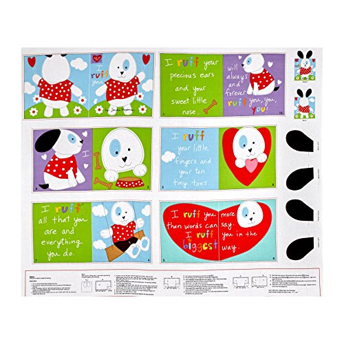 Huggable & Loveable I Ruff You Soft Book Panel Fabric (Book Soft Panel Fabric)