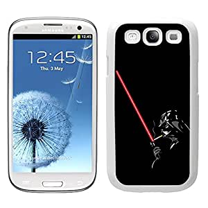 Funda carcasa TPU (Gel) para Samsung Galaxy S3 Darth Vader con sable SW borde blanco
