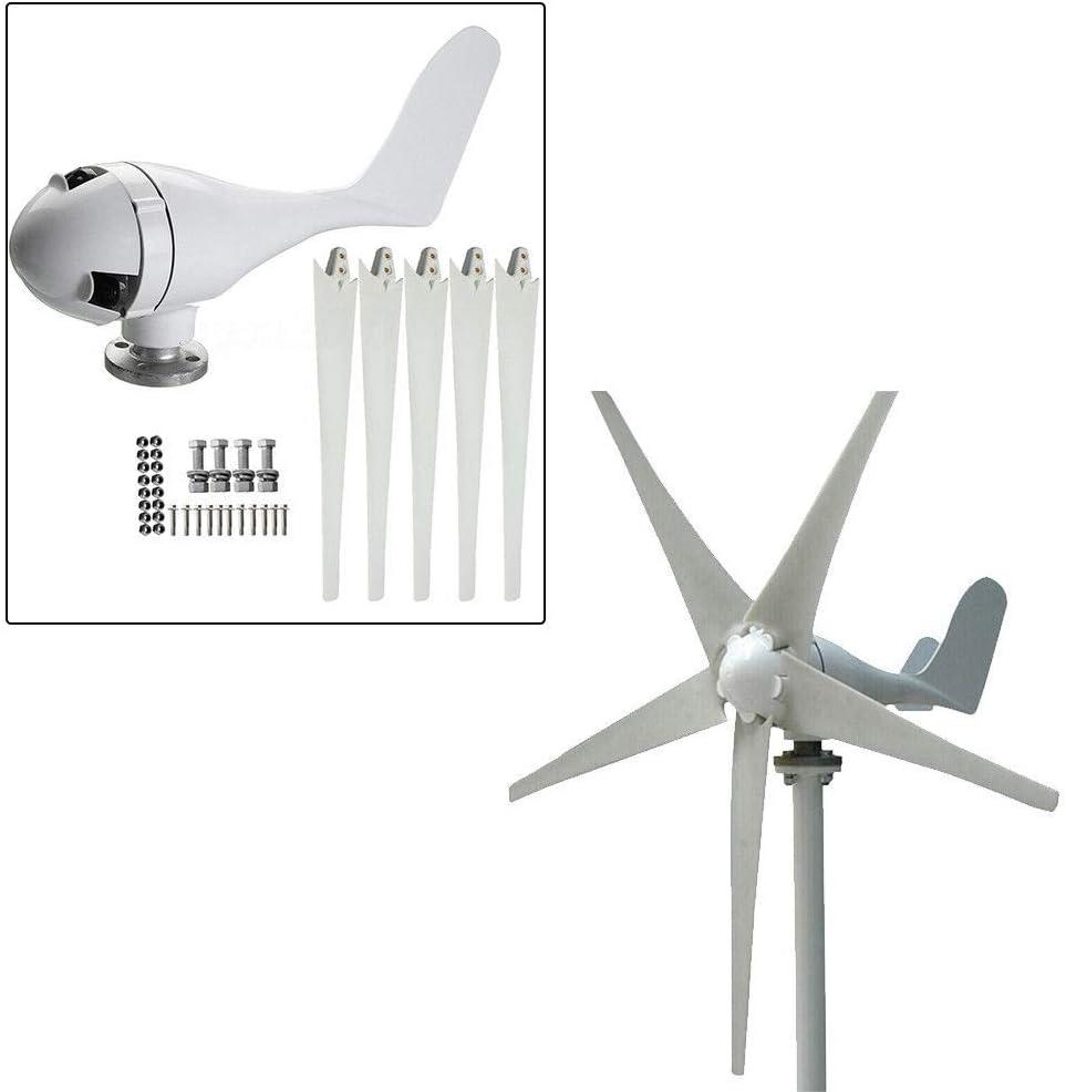 OUKANING Mini 400W 24V Generador de Turbina de Viento Micro Nylon Fibra 5cuchillas 1.4M Diámetro Sistema de Energía de Viento Kits