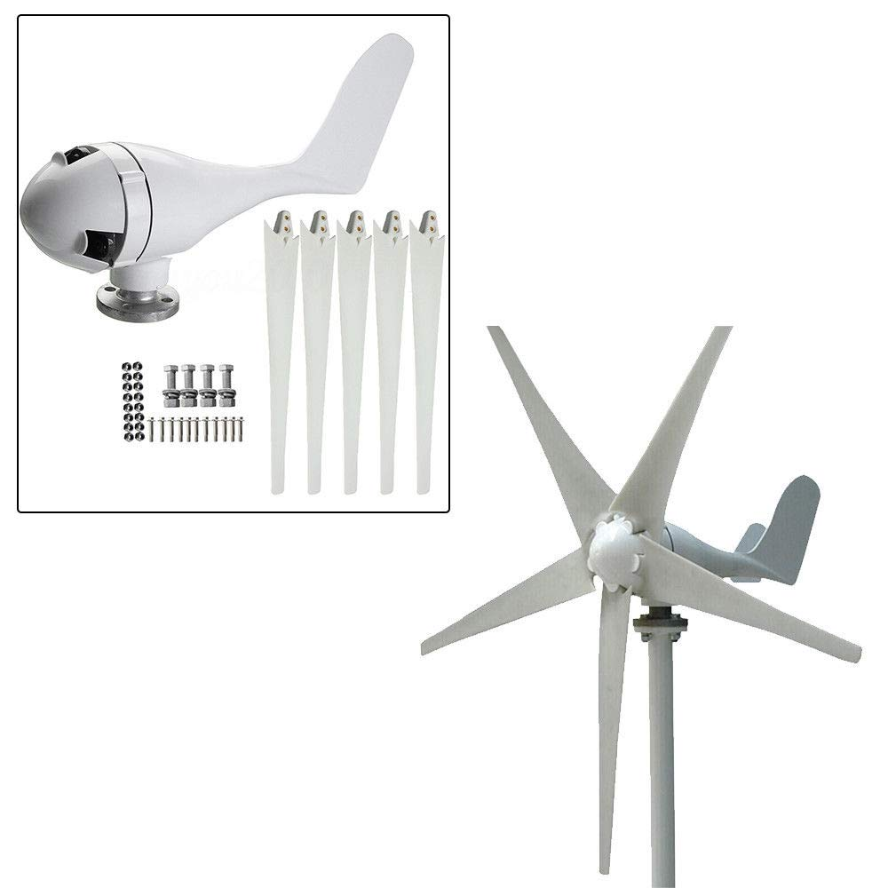 OUKANING Mini 400W 24V Wind Turbine Generator Micro Nylon Fiber 5blades 1.4M diameter Wind Power System Kits