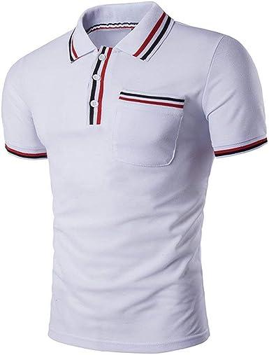 Camisa De Manga Corta con Cuello En V Retro Polo Polo con ...