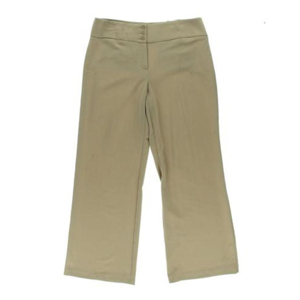 Style Co. Womens Stretch Wide-Leg Pants, Sandstorm, Size 4 Short
