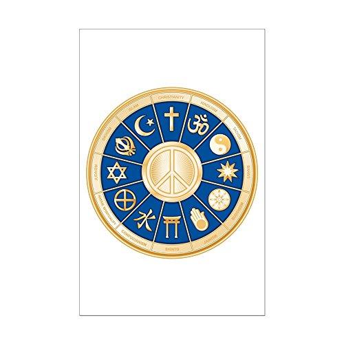 Mini Poster Print International Peace Symbol Religions