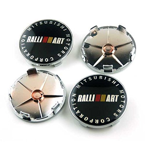 4pcs W019 65mm Car Styling Accessories Emblem Badge Wheel Hub Caps Centre Cover Motorsport RALLIART MITSUBISHI LANCER PAJERO OUTLANDER ASX Galant Eclipse Spyder