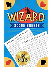 """Wizard Score Sheets: Wizard Card Game Score Pads - Oversized Wizard Scorepads - Wizard Cards - 120 Sheets, 6""""x9"""""""