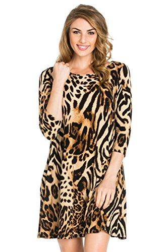 cheetah dress plus size - 2