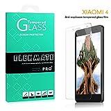For Xiaomi Mi4 Screen Protector, ELEKMATE® Tempered Glass Screen Protector for Xiaomi Mi4 [Retail Package] (Transparent)