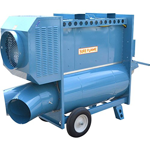 - Sure Flame Indirect Fired Heater, Dual Fuel, Natural Gas Or Propane, 120V, Ductable, 400K BTU