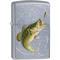 Zippo Lighter: Bass Fishing - Street Chrome 77475