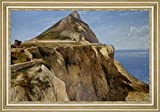 "The Rock of Gibraltar by Frederick Richard Lee - 19"" x 28"" Framed Premium Canvas Print"