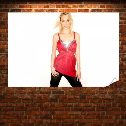 Women Actress Kaley Cuoco Poster Print