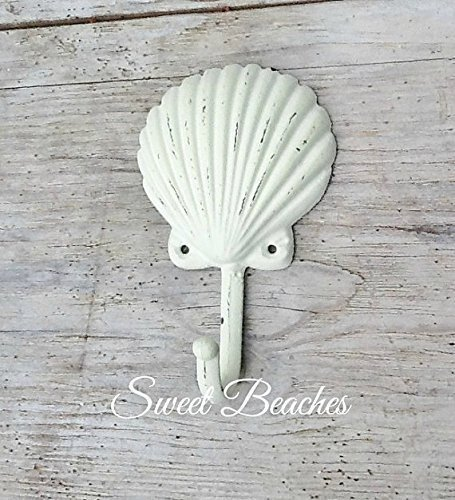 Shell Hook Clothes Towel Beach Seaside Resort Nautical Ocean Sea Decor Seashell (Beach Hand Towel Hooks)