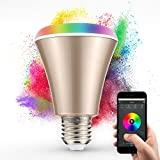 Docooler 4W Music Light Bulb LED RGB+W Bulb E27 with Bluetooth Smart Speaker Remote Controller