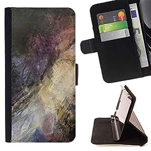 Dark Colour Splash Painting - Modelo colorido cuero de la carpeta del tirón del caso cubierta piel Holster Funda protecció Para Sony Xperia Z3 Compact / Z3 Mini (Not Z3)