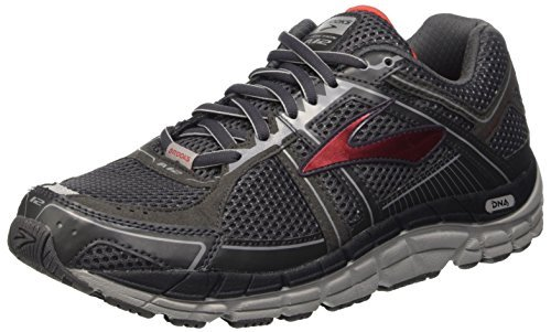 BROOKS Men's Addiction 12 Anthracite/High Risk Red/Silver...