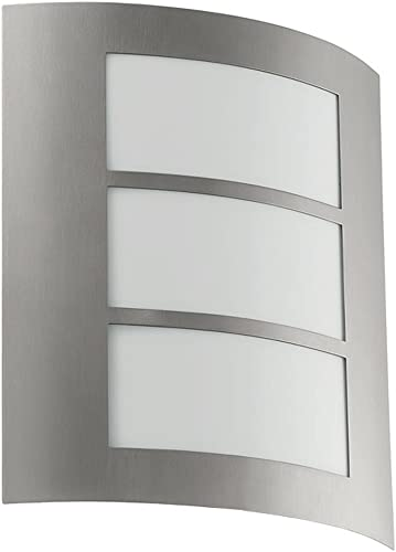 Eglo 88139A City Wall Light, Stainless Steel