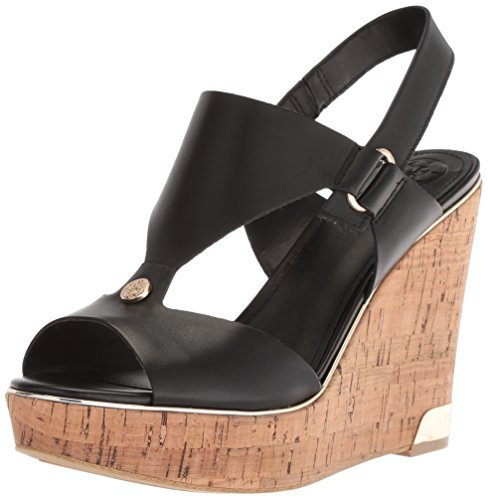 Black Hulda Women's Sandal Wedge GUESS wxXIqO7