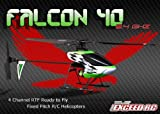 Exceed RC 2.4Ghz Falcon 40 -Channel Radio Remote Control RC Helicopter RTF Fixed Pitch - 100% Ready-to-Fly