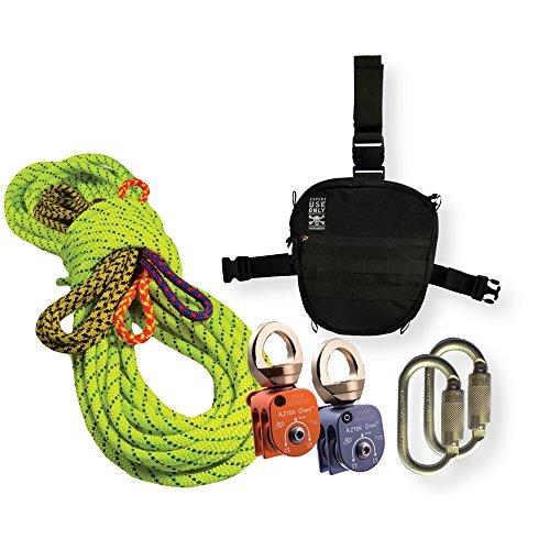 Rock Exotica Aztek Pulley Pro Kit P41KITPRO Plus 2 FREE Auto Bilock Carabiners by OmniProGear