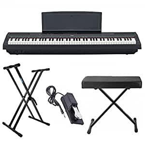 yamaha p125 88 weighted key digital piano bundle with knox double x stand knox. Black Bedroom Furniture Sets. Home Design Ideas