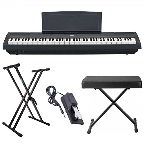 Yamaha P125 88 Weighted Key Digital Piano Bundle with Knox D