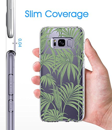 Absorption Housse Dcoration Samsung Bumper Cover Coque Scratch Coque 05 Anti TPU tui Silicone Protecteur Galaxy S8 Pacyer Transparent Feuilles et CxwdqT8Z8