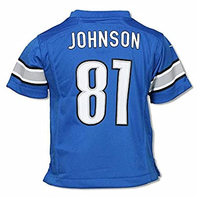 Calvin Johnson Detroit Lions NFL Youth Jersey by Nike, Honolulu Blue, Toddler 2T