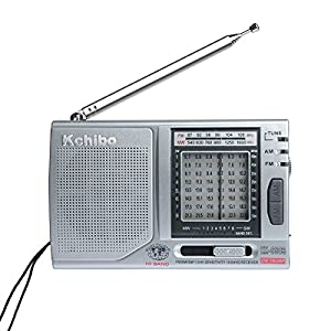 Outdoors Radio Am Fm Radio Portable Best Reception 10 Bands FM/MW/SW1-8 with Built-in Speaker,Folding Kickstand,High Sensitive,Large Frequency Indicating Window Indoor Radio KK-9803