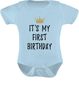 Baby Boys Girls 1st Birthday Gifts One Year Old Crown Bodysuit NB