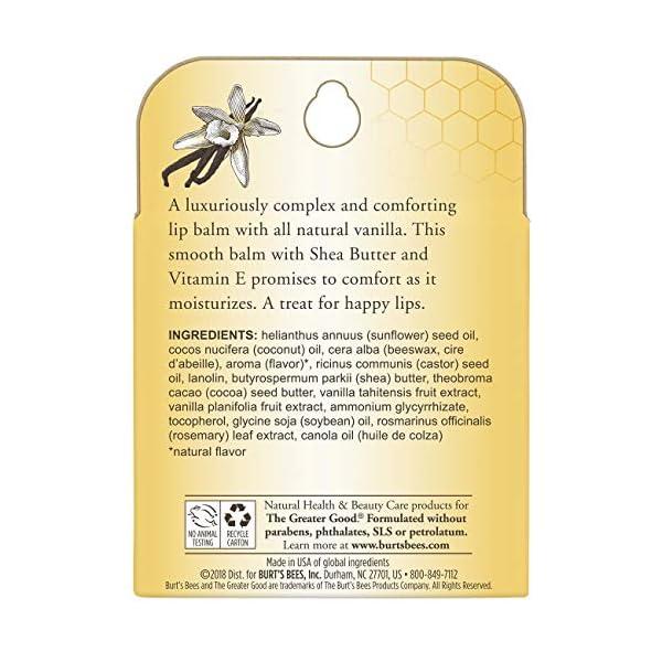 Burt's Bees 100% Natural Moisturizing Lip Balm, Vanilla Bean - 4 Tubes