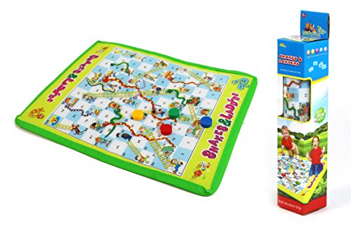 Roll-Out Snakes and Ladders Mat Board Game - A Portable Classic for the Whole Family to Enjoy!