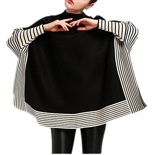 Noir Femme Femme Poncho Noir Poncho FOLOBE FOLOBE 1TZUccyqY