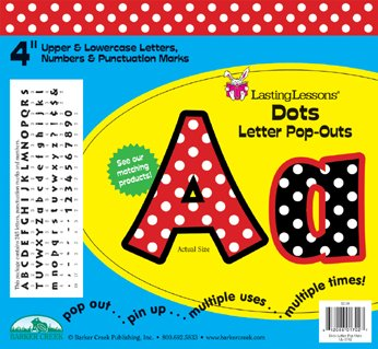 Barker Creek Dots Letter Pop-Outs (Dots Spanish)