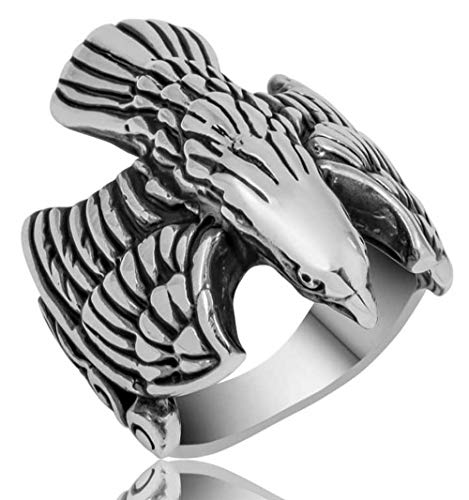 mysilverworld Solid 925 Sterling Silver Eagle Figure Men
