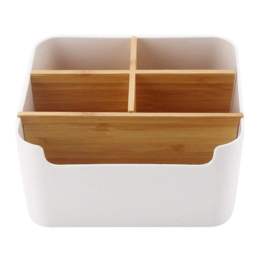 Multifunktional Schreibtisch Organizer Holz Aufbewahrungsbox Bambus Schreibtisch Tidy Halter Aufbewahrungsbox Perfekte Desktop Box F/ür Ihr Smartphone Fernbedienung Und Andere Kleinteile