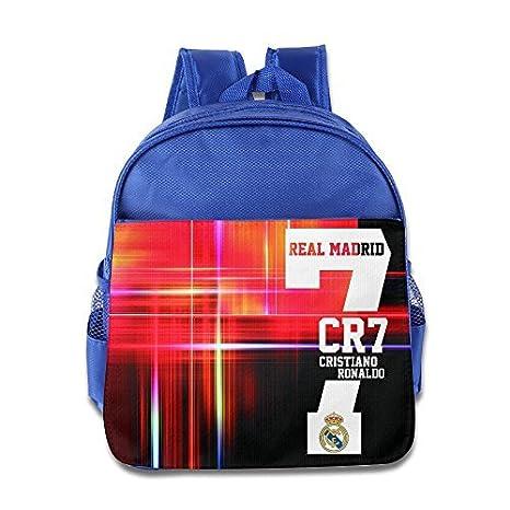 UEFA Real Madrid CR7 Cristiano Ronaldo Mochila Escolar Infantil Royalblue: Amazon.es: Hogar
