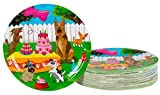 Disposable Plates - 80-Count Paper Plates, Puppy Party Supplies for Appetizer, Lunch, Dinner, and Dessert, Kids Birthdays, 9 x 9 inches