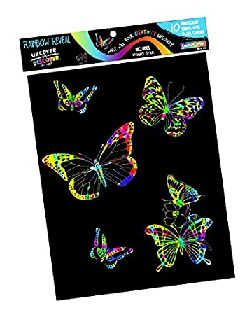 Mind Sparks Now You See It Etch Drawing Paper Multicolor//White 50 Sheet Chenille Kraft Co 4629