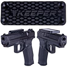Magnetic Gun Mount & Holster For Vehicle And Home - HQ Rubber Coated 35 Lbs Rated - Firearm Accessory. Concealed Holder For Handgun, Rifle, Shotgun, Pistol, Revolver, Truck, Car, Wall, Vault, Desk.